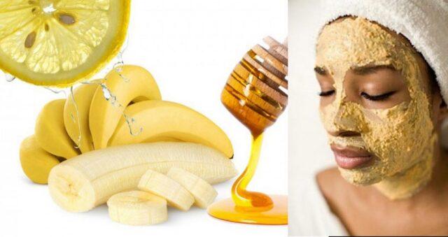 Masque à la banane, citron et miel est un botox naturel magique !