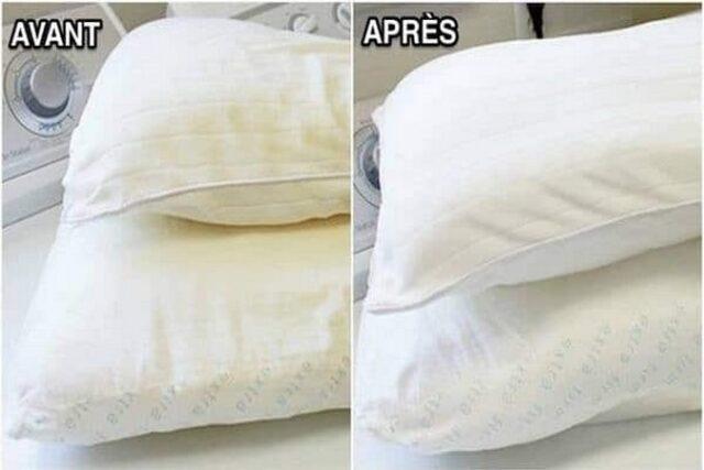 L'astuce merveilleux pour nettoyer vos oreillers pour les rendre comme neufs